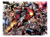 Avengers: The Childrens Crusade No.5: Iron Lad, Hulkling, Stature, Captain America and Others Prints by Jim Cheung