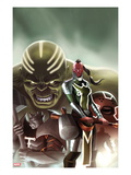 Fear Itself: The Worthy 1 Cover: Red Skull, Juggernaut, Hulk, and Grey Gargoyle Posters par Jelena Djurdjevic