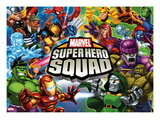 Marvel Super Hero Squad: Thor, Wolverine, Hulk, Iron Man, Loki, Magneto, Mystique, and Dr. Doom Posters