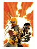 Power Man and Iron Fist 4 Cover: Iron Fist and Power Man Posing Posters by Mike Perkins