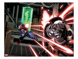 Avengers: X-Sanction No.1: Captain America Shooting at Cable Posters by Ed McGuiness