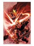 Thor: The Deviants Saga No.4 Cover: Thor and Phastos Fighting Poster by Stephen Segovia