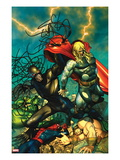 Chaos War No.5 Cover: Chaos King and Thor Fighting Posters by Brandon Peterson