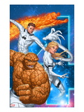 Fantastic Four 604 Cover: Thing, Invisible Woman, Mr. Fantastic, and Human Torch Art by Mike Choi