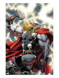 The Mighty Thor 11 Cover: Thor Standing with Mjonir Print by Dale Keown