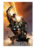 Invincible Iron Man No.513 Cover: Iron Man and War Machine Fighting Posters by Salvador Larroca