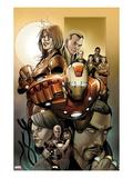 Invincible Iron Man No.500.1 Cover: Iron Man, Pepper Potts, and Virginia Prints by Salvador Larroca