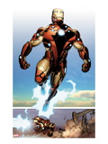 Invincible Iron Man No.514: Iron man Flying Posters by Salvador Larroca
