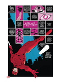 Daredevil No.1 Cover: Panels with Daredevel Jumping Poster by Paolo Rivera
