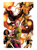 New Mutants 41 Cover: Blink, Moonstar, Magma, and Warlock Posters par Kris Anka