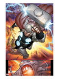 The Mighty Thor No.10: Thor Flying with Mjolnir Art by Pepe Larraz
