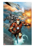 Invincible Iron Man No.513: Iron Man and War Machine Flying Prints by Salvador Larroca