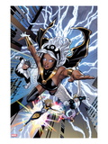 Uncanny X-Men 531: Storm, Northstar, Angel, Dazzler, and Pixie Flying Affiches par Greg Land