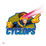 Marvel Super Hero Squad Badge: Cyclops Shooting Posters