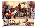Avengers vs X-Men 3: Captain America, Iron Man, Ant-Man, Wolverine, Black Panther, and Thing Poster von John Romita Jr.