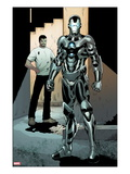 Iron Man 2.0 No.3: War Machine Print by Barry Kitson