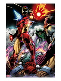 Iron Man/Thor No.2: Iron Man Standing Poster by Scot Eaton