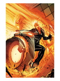 Venom No.13.1 Cover: Ghost Rider Riding a Flaming Motorcycle Poster