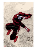 Daredevil 1 Cover: Daredevl Jumping amidst Sounds Prints by Paolo Rivera