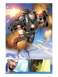 Invincible Iron Man No.513: Panels with War Machine and Iron Man Art by Salvador Larroca