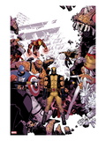 Wolverine & The X-Men No.8 Cover: Wolverine, Captain America, Thing, Storm, Psylocke and Others Prints by Tim Townsend