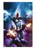 The Thanos Imperative 6 Cover: Star-Lord and Nova Shooting Affiches par Aleksi Briclot