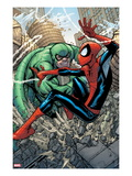 Marvel Adventures Spider-Man 10 Cover: Spider-Man and Scorpion Fighting Print by Patrick Scherberger
