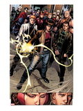 Avengers: The Childrens Crusade No.7: Rictor, Shatterstar, Madrox, Strong Guy, and Scarlet Witch Poster by Jim Cheung