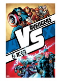 AVX 1 Cover: Cyclops, Storm, Magneto, Colossus, Emma Frost, Captain America and Others Posters by Adam Kubert