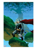 Astonishing Thor No.1 Cover: Thor Standing Art by Esad Ribic