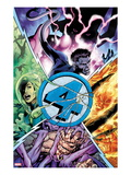 Fantastic Four 587 Cover: Thing, Human Torch, Invisible Woman, and Mr. Fantastic Prints by Alan Davis