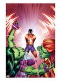 She-Hulks No.3 Cover: She-Hulk, Lyra, and Klaw Prints by Ed McGuinness