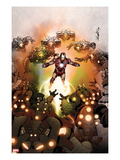Invincible Iron Man No.512 Cover: iron Man Flying Posters by Salvador Larroca