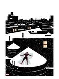 Daredveil No.7 Cover; Daredevil Making a Snow Angel on a Rooftop Kunst von Paolo Rivera