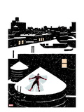 Daredveil 7 Cover; Daredevil Making a Snow Angel on a Rooftop Prints by Paolo Rivera