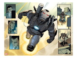 Iron Man 2.0 No.2: Panels with War Machine Flying Posters by Salvador Larroca