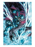 Thor: The Deviants Saga No.3 Cover: Thor Fighting and Smashing Art by Stephen Segovia