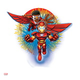 Marvel Super Hero Squad Badge: Iron Man and Falcon Posing Posters