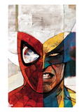 Moon Knight 5 Cover: Spider-Man and Wolverine Print by Alex Maleev