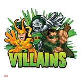 Marvel Super Hero Squad: Villains - Loki, Dr. Doom, and Mole Man Posing Prints