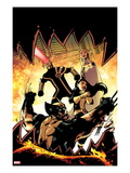Astonishing X-Men 37 Cover: Wolverine, Armor, Cyclops, and Emma Frost Prints by Jason Pearson