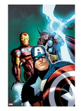 Avengers: Earths Mightiest Heroes No.3 Cover: Captain America, Iron Man, and Thor Prints by Patrick Scherberger