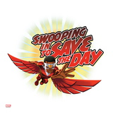 Marvel Super Hero Squad Badge: Swooping in to Save the Day - Falcon Flying Prints