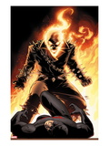 Shadowland No.5 Cover: Ghost Rider and Daredevil Fighting Poster von John Cassaday