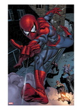 Heroes For Hire 6: Spider-Man Swinging Art by Brad Walker