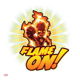 Marvel Super Hero Squad Badge: Flame On! Human Torch Posing Prints