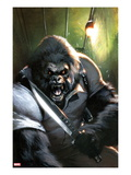 Gorilla-Man 3 Cover: Gorilla-Man Posing Posters by Gabriele DellOtto