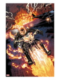 Heroes For Hire 2: Ghost Rider Riding Motorcycle Art by Brad Walker