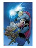 Thor No.619 Cover: Thor and Odin Fighting Posters by Pasqual Ferry