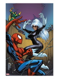 Marvel Adventures Spider-Man No.22 Cover: Spider-Man, Black Cat, and Mandarin Prints by Mike Choi